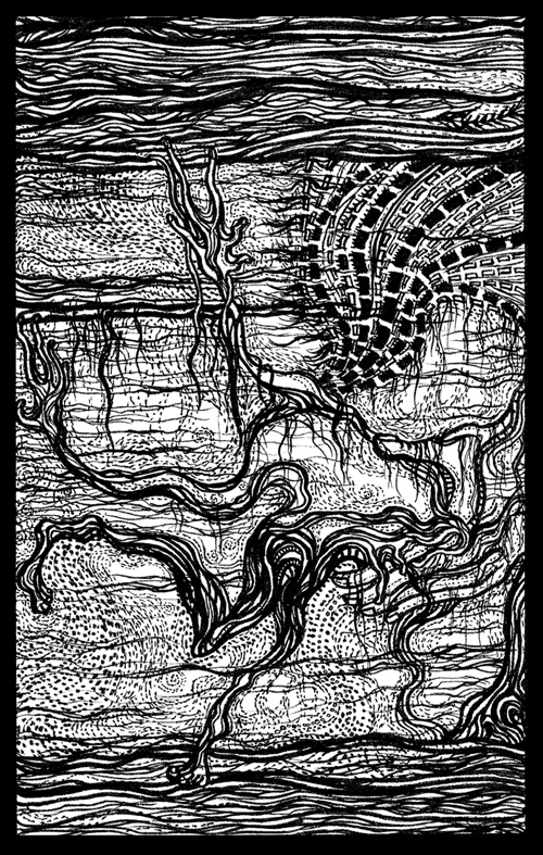 Melancholia Line Drawing / Silk Screen Print