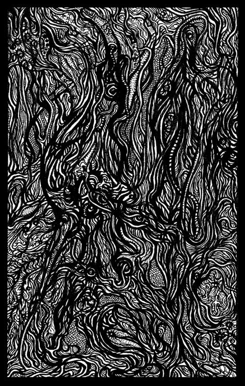Zoanthropy Line Drawing / Silk Screen Print