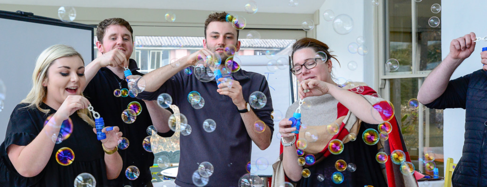 Blowing bubbles was surprisingly therapeutic. I tried not to hyperventilate. -