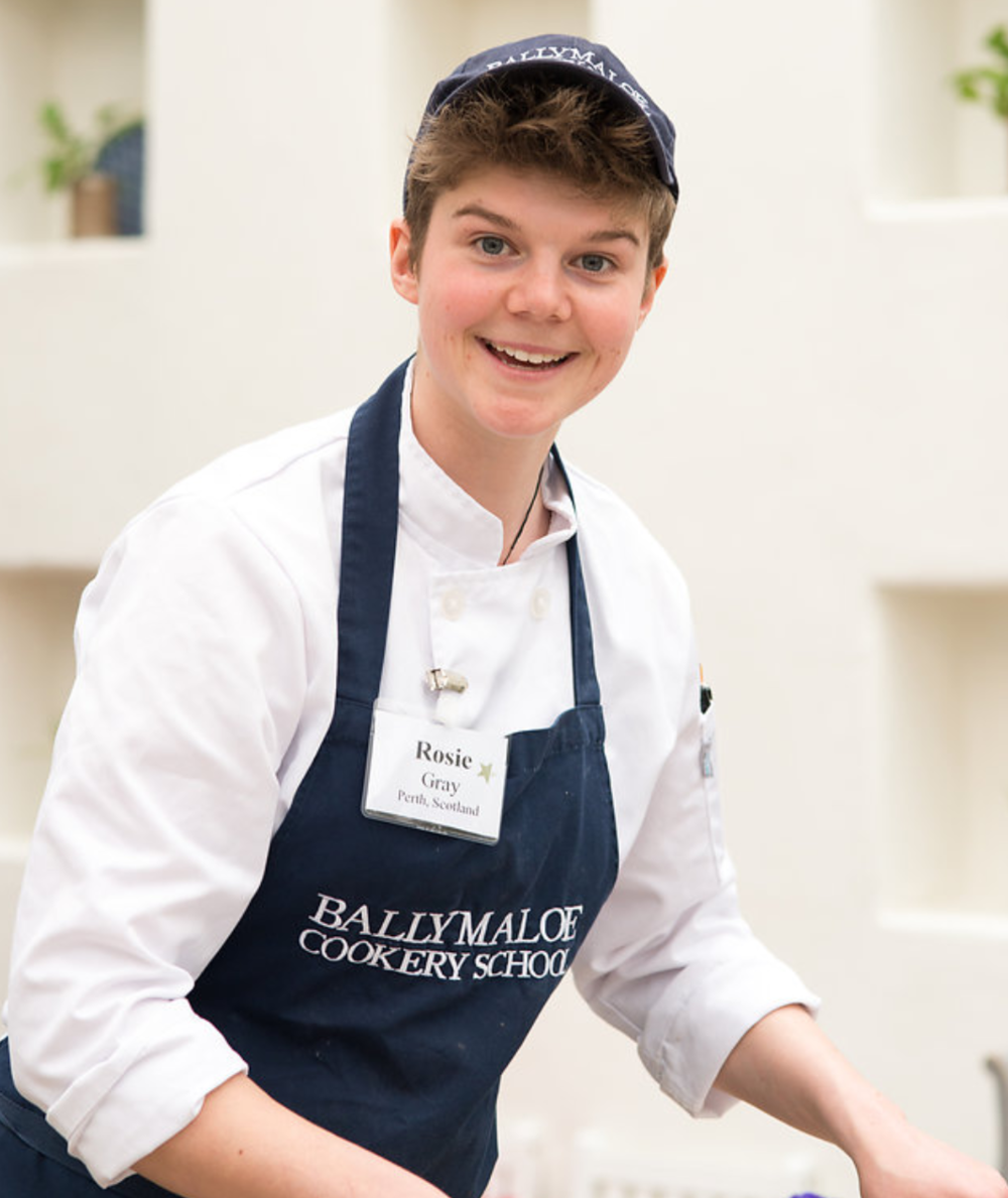 Rosie Gray: The most friendly, enthusiastic, energetic, knowledgeable intern at Ballymaloe and I would hire her in a second and tried to.