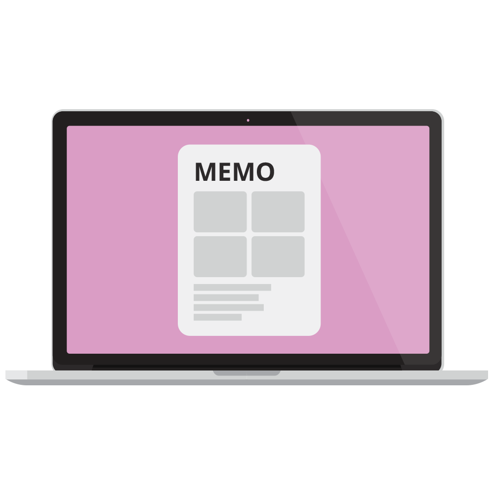 Create and send memos and materials to your clients