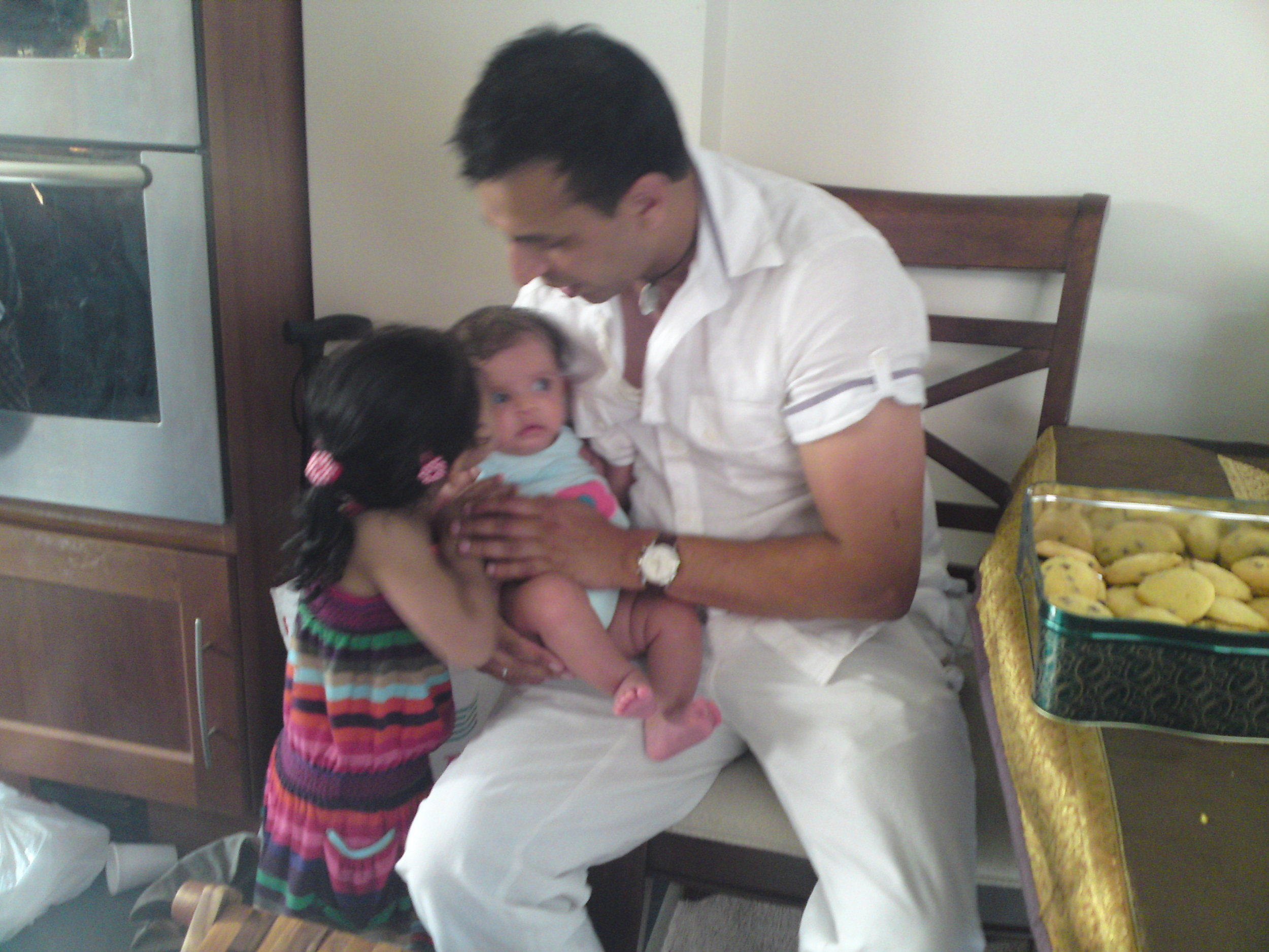 Vinay With His Kids