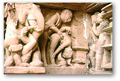 Tantric Temple Carvings in Khajuraho