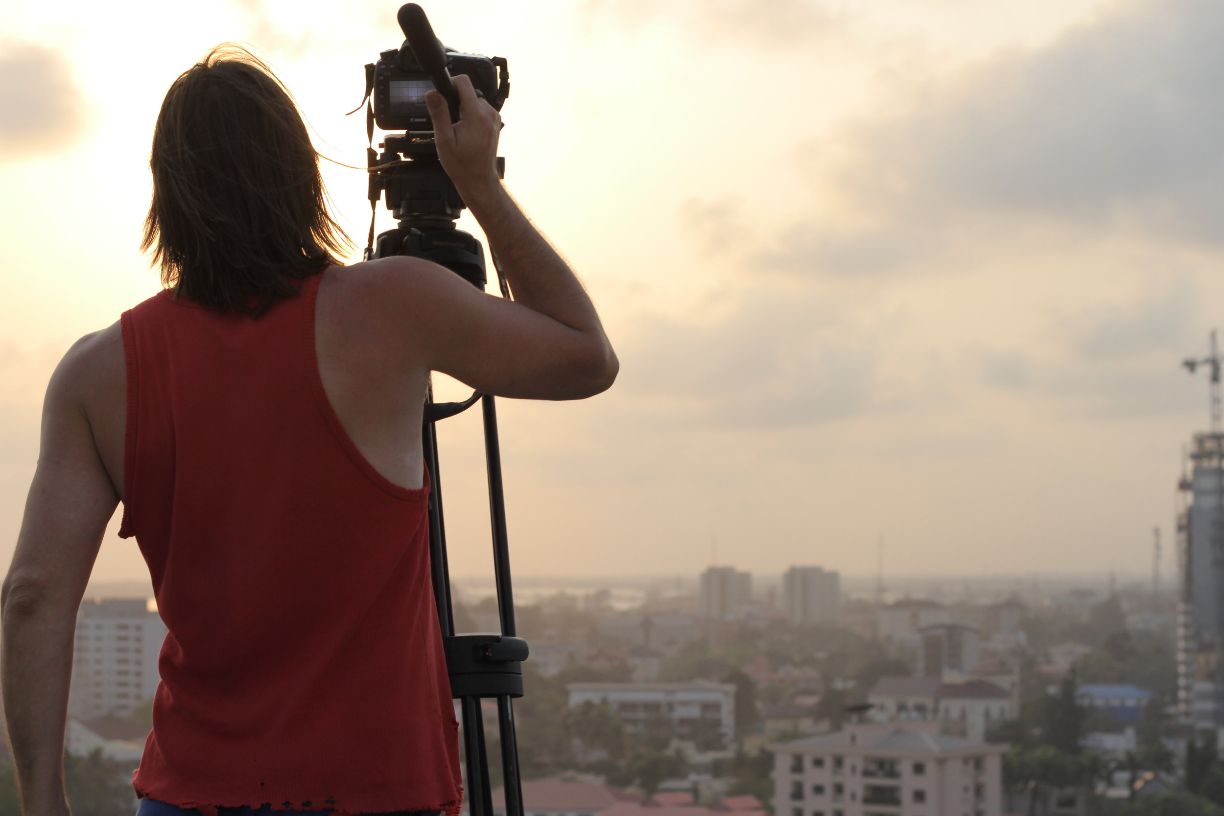 Filming sunsets in Lagos