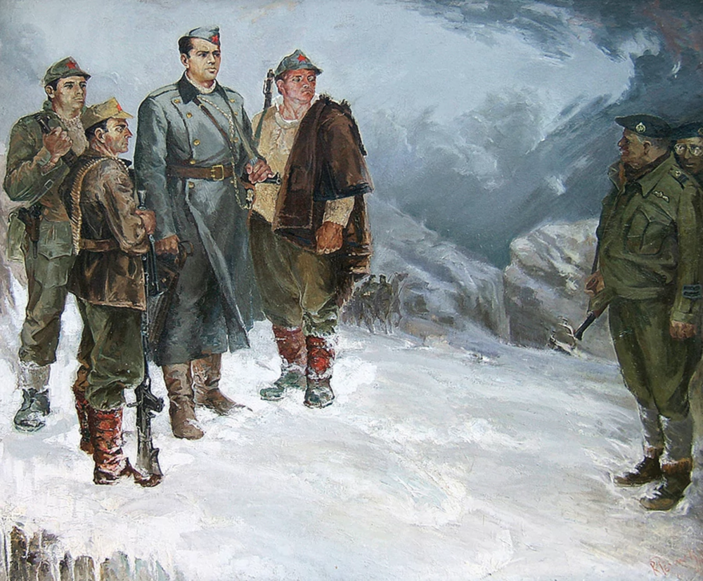 The Abyss, by Robert Permeti. Which depicts the British trying to escape from their German pursuers.