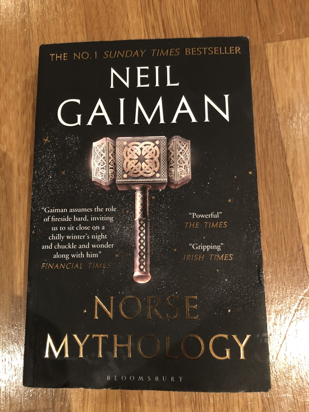 The cover of Neil Gaiman's Norse Mythology