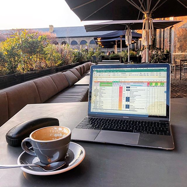 Proper prior planning prevents piss-poor performance. ••• Coffee, spreadsheets designed by @windsorwrighty and getting some writing done. Essential way to end the week and get set up for the next one. This adventure malarkey isn't all walking in Eastern Europe and skiing in Val Thorens, you know! 😉 ••• How do you set yourself up for the week ahead?