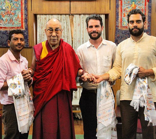 In 2015 I met the Dalai Lama. You'd have thought I'd have been happier about it. ••• This was in Dharamsala, where I was filming Walking The Himalayas with @levison.wood. Lev and the production team had been trying to organise an interview with the Dalai Lama for weeks, but hadn't been successful. Lev had to leave to continue walking, so I stayed behind for a day, I knocked on the palace door and asked in person. It worked! ••• Meeting the Dalai Lama was a truly incredible experience. The thing I remember most was his compassion and empathy towards the Chinese, despite the occupation and human rights abuses that they had visited upon his people. It's a lesson a try to remember when I have my own minor frustrations in life.