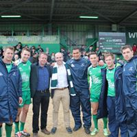 Michael, Cathal and the Connacht Rugby players we worked with for two seasons, bringing them to Pro12 victory!