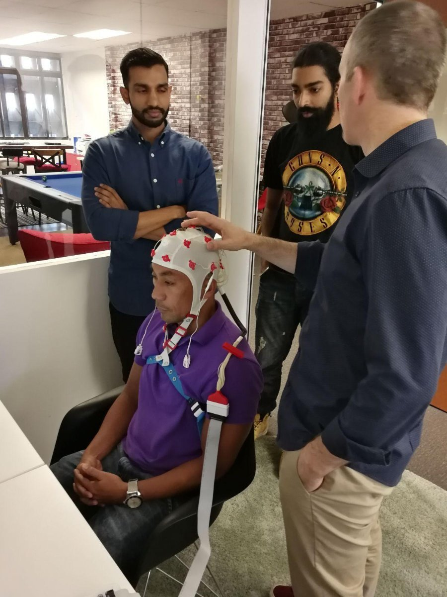 An EEG cap in use in our Singapore Clinic