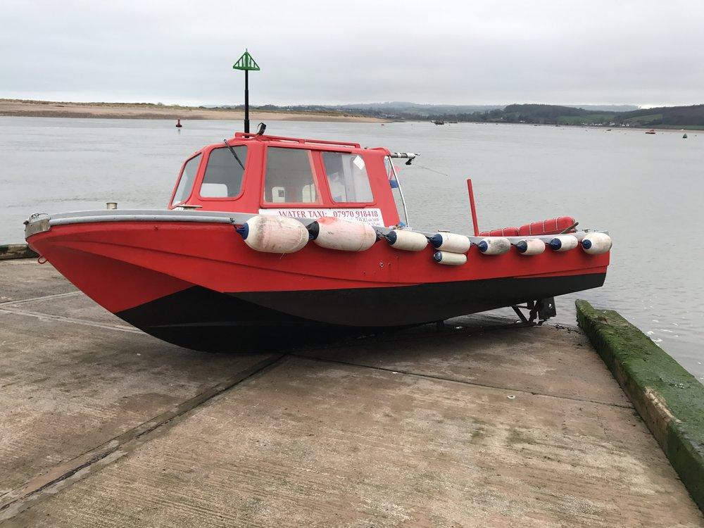 Exmouth Water taxi marina dawlish warren exe river boat trip starcross ferry mamhead slipway