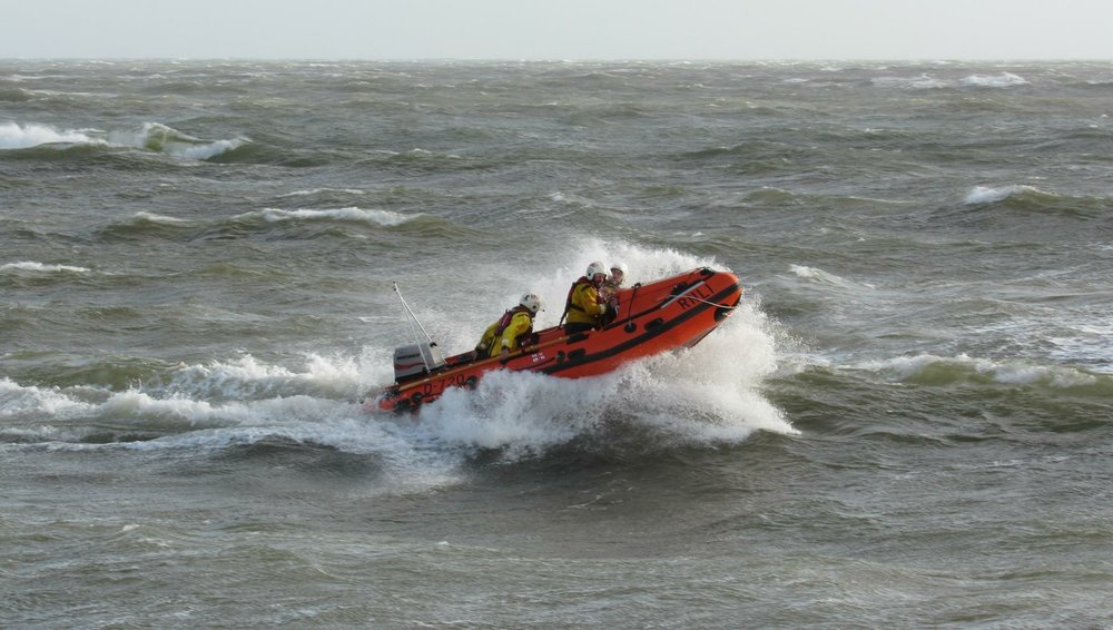 David Preece RNLI Exmouth Lifeboat water taxi