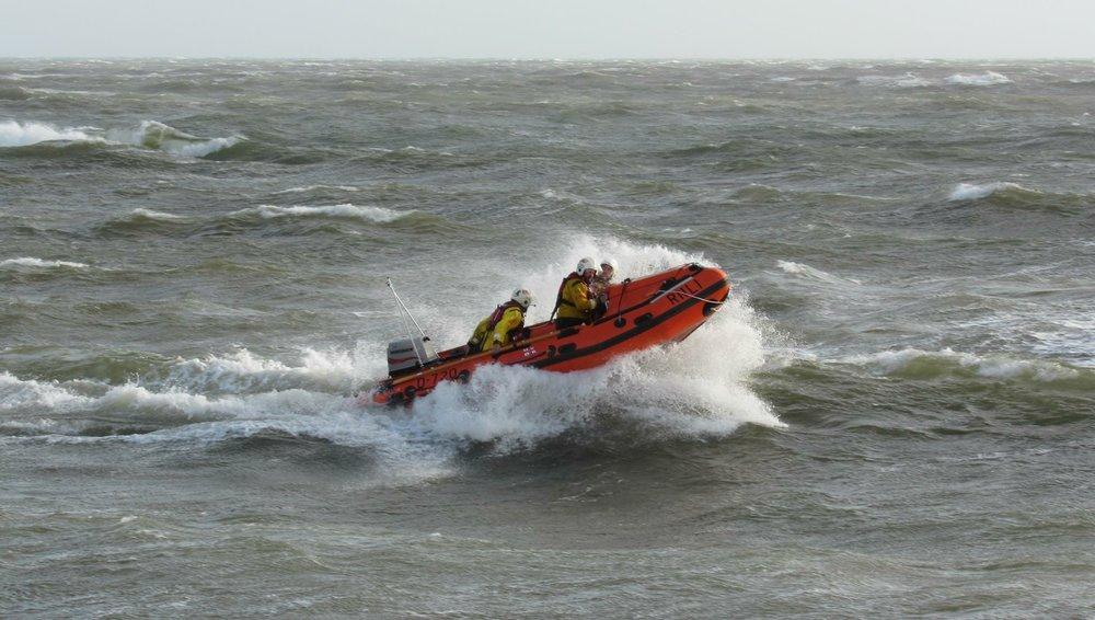 David Preece RNLI Exmouth Lifeboat water taxi