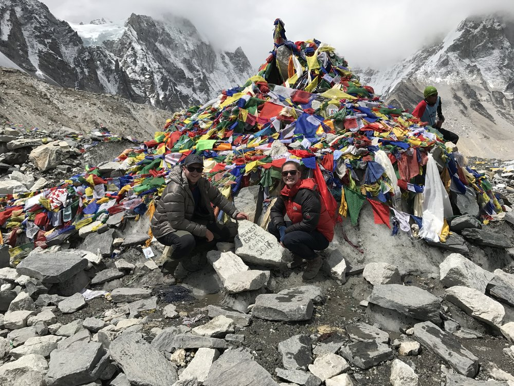 everest base camp: a great feeling of accomplishment, coupled with a slightly underwhelming sign!