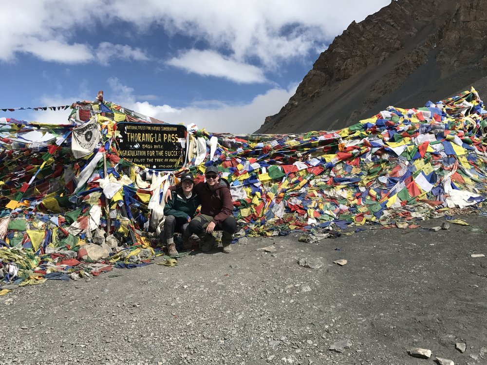 another hiking success ticked off! thorung-la covered in prayer flags.