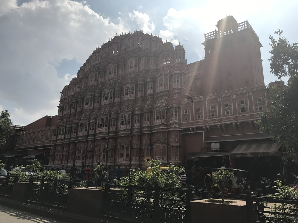hawa mahal in jaipur, rajasthan, also known as the pink city.