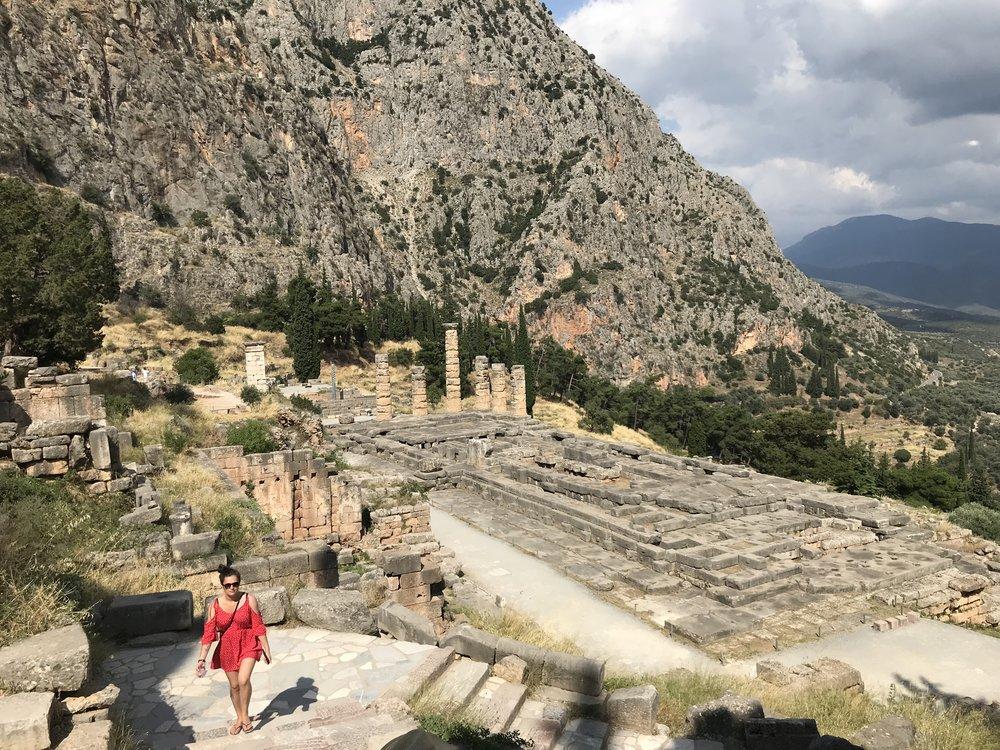 exploring the ruins at delphi