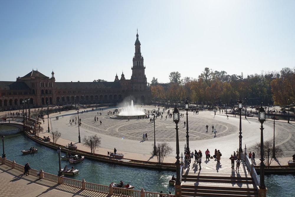 the plaza de espana