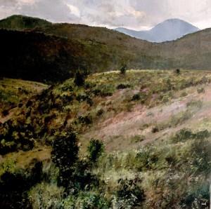 Julyan Davis, Black Balsam Oil on canvas
