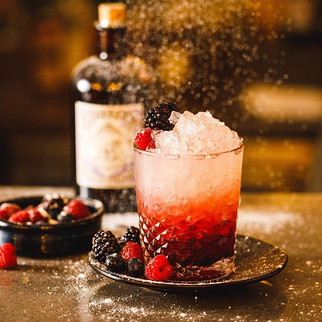 A sprinkling of snow on our classic Bramble cocktail 😍 #birmingham