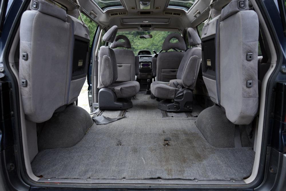 The original grey carpet