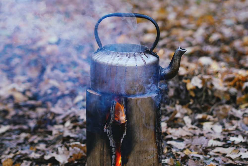 A 'Swedish Torch' in action. This was one of the many types of fire we used during the day.
