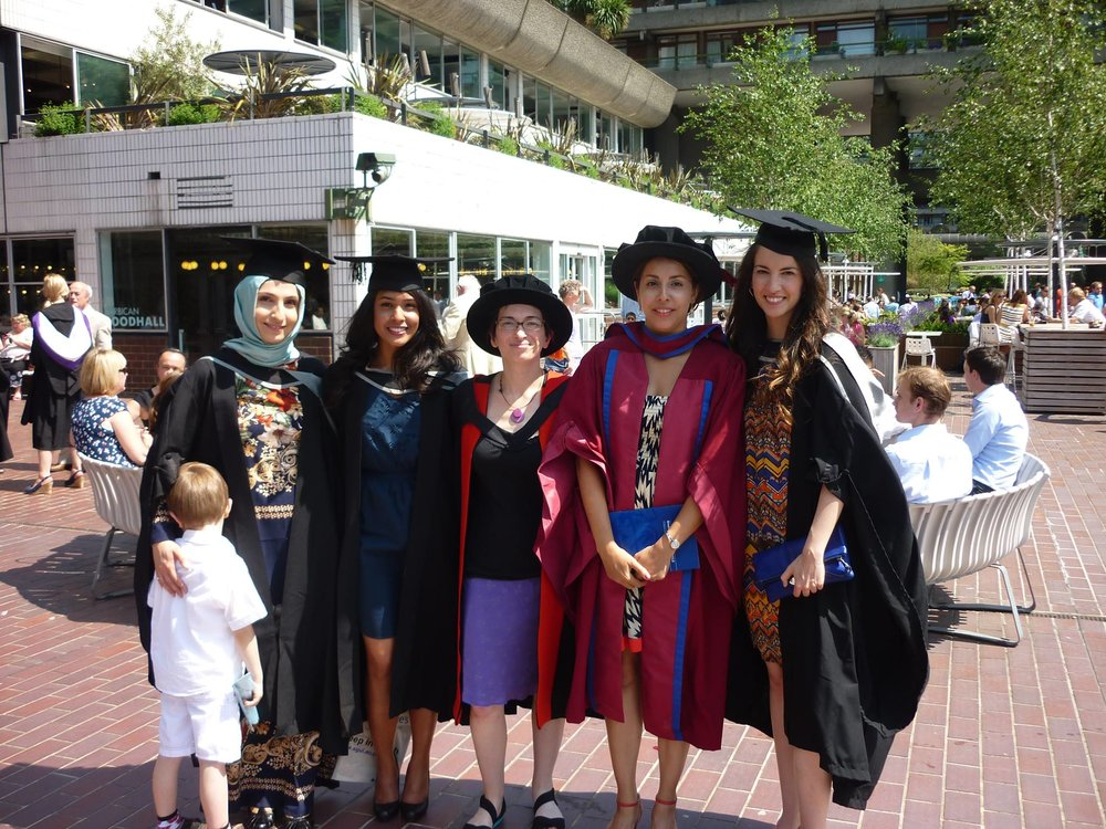 At Graduation, Barbican, London.