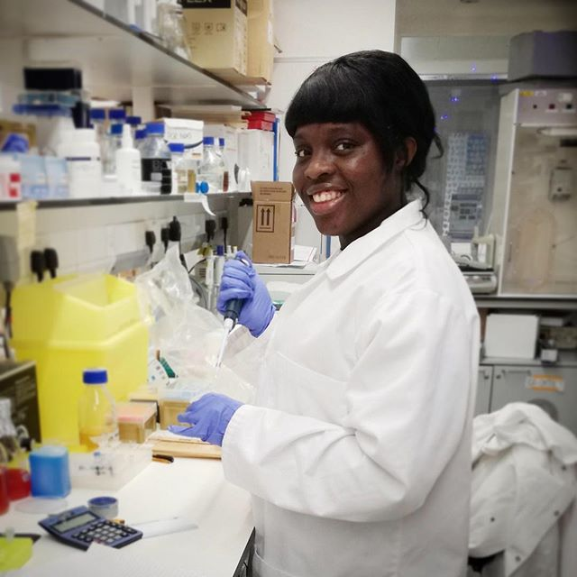 "Our #genetics #research centre is full of lovely people - #undergraduate & #postgraduate #students ... #earlycareerresearchers and many more. I thought it would be nice to introduce you to a few of them 😁 ""Hi my name is Nnenna I studied #Biomedical science at St Georges University of London. I enjoyed my time immensely, so much so that I came back to undertake my Master's (MRes)! My master's project is looking at the  mechanisms and genetics behind muscle regeneration and repair using #Zebrafish as a model organism, as relatively little is know about the exact mechanism controlling these processes. The more concrete information we have on these processes, the greater the possibility of generating effective therapies for people whose #muscle repair is ineffective, eg those who suffer with Congenital Muscular Dystrophy. After my Masters I hope to continue a career in developmental research."" . . . . . . . . #science #artofscience #scienceart #labwork #laboratory #scientist #scientistsofinstagram #lablife #biology #genetic #sciencecommunication #lab #sciences #sciencegeek #scienceiscool #sciencenerd"