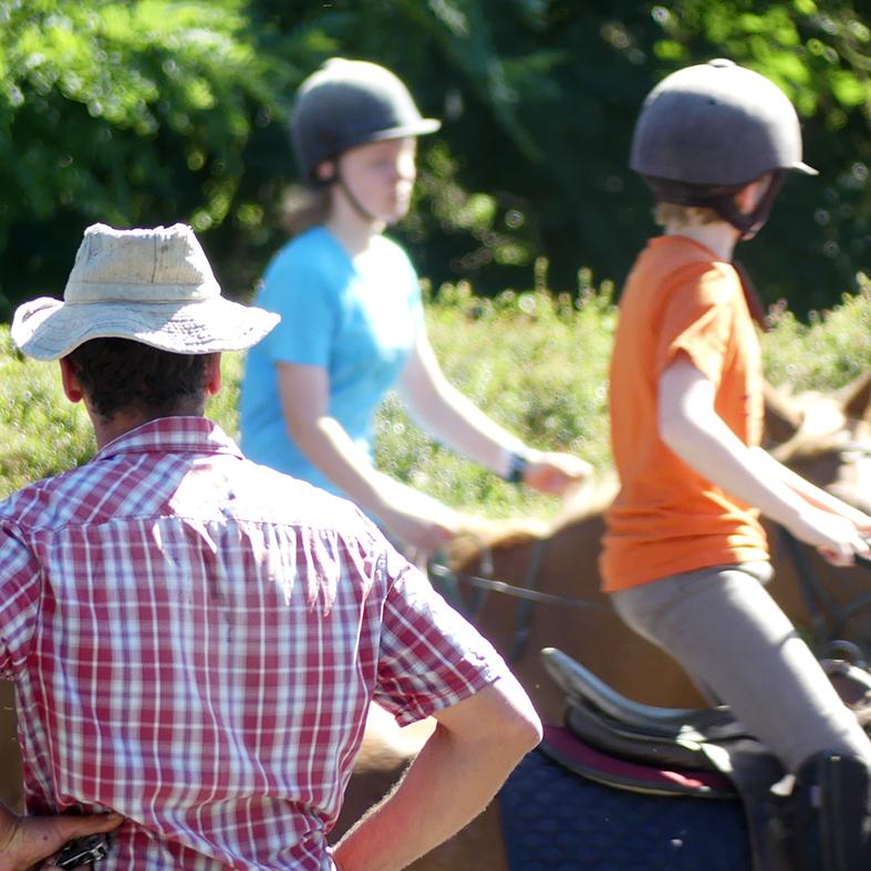 stages d'équitation en famille