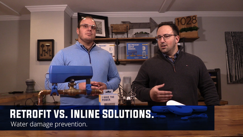 "Jesse Dickert and Jared Petrie kick off the new educational smart tech and smart home series called ""School of Hard Drips."" In episode 1 they discuss retrofit versus inline water damage prevention designs and things to consider before making the investment to protect your home from costly effects of water damage."