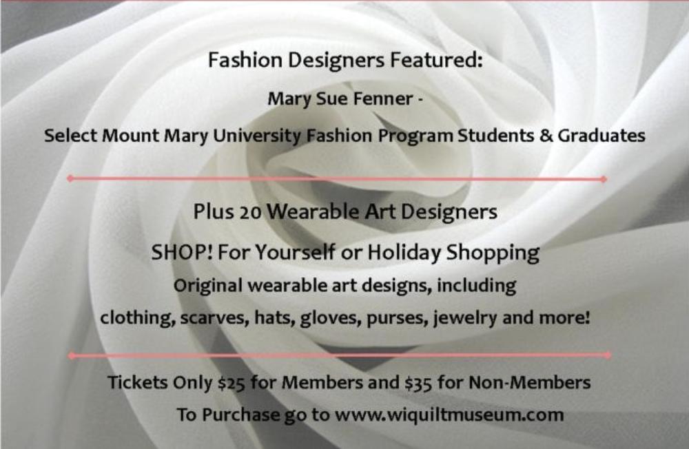 WMQFA-Cedarburg-Wisconsin-Museum-Quilts-Fiber-Arts-Fashion-Show-Art-Shop-Events