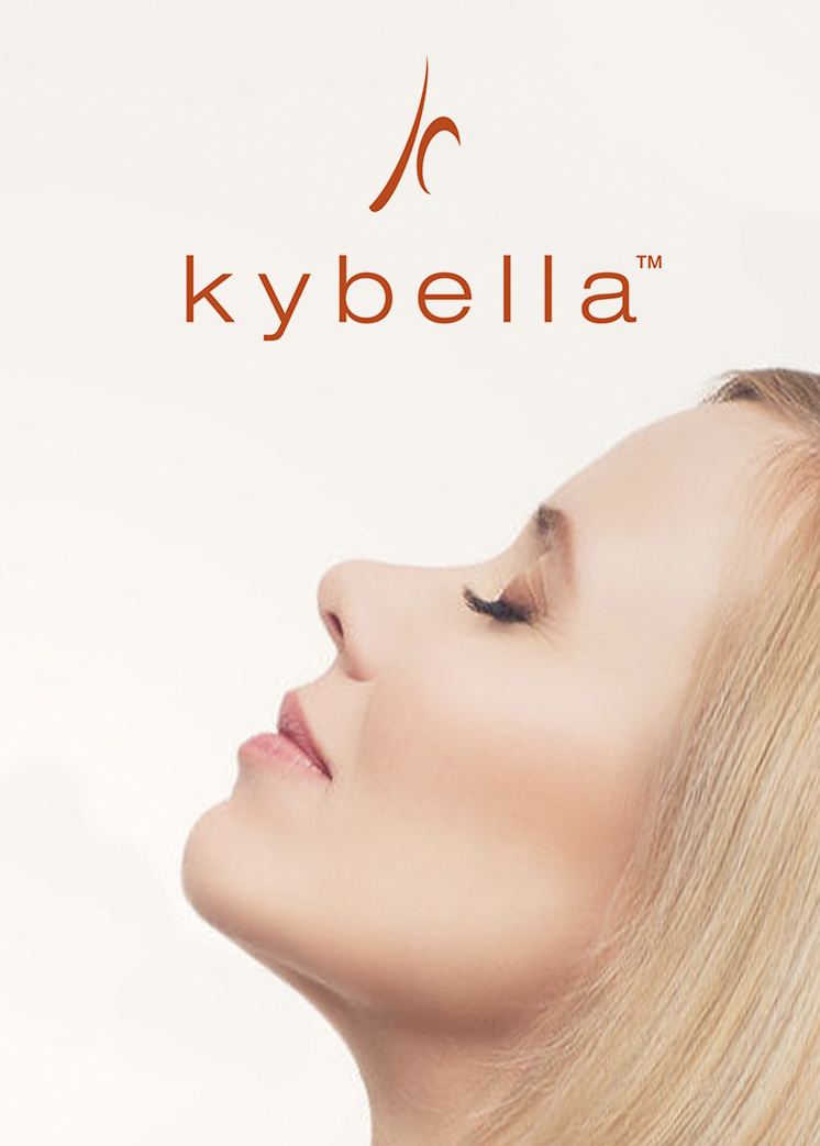 Kybella - The first and only injectable double-chin treatment. Injected into the fat beneath the chin, Kybella destroys fat cells, resulting in a noticeable reduction in fullness under the chin.