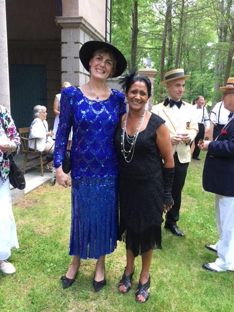 Anita Worden and guest.