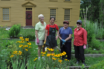 The North Andover Garden Club have restored the Historic Gardens.