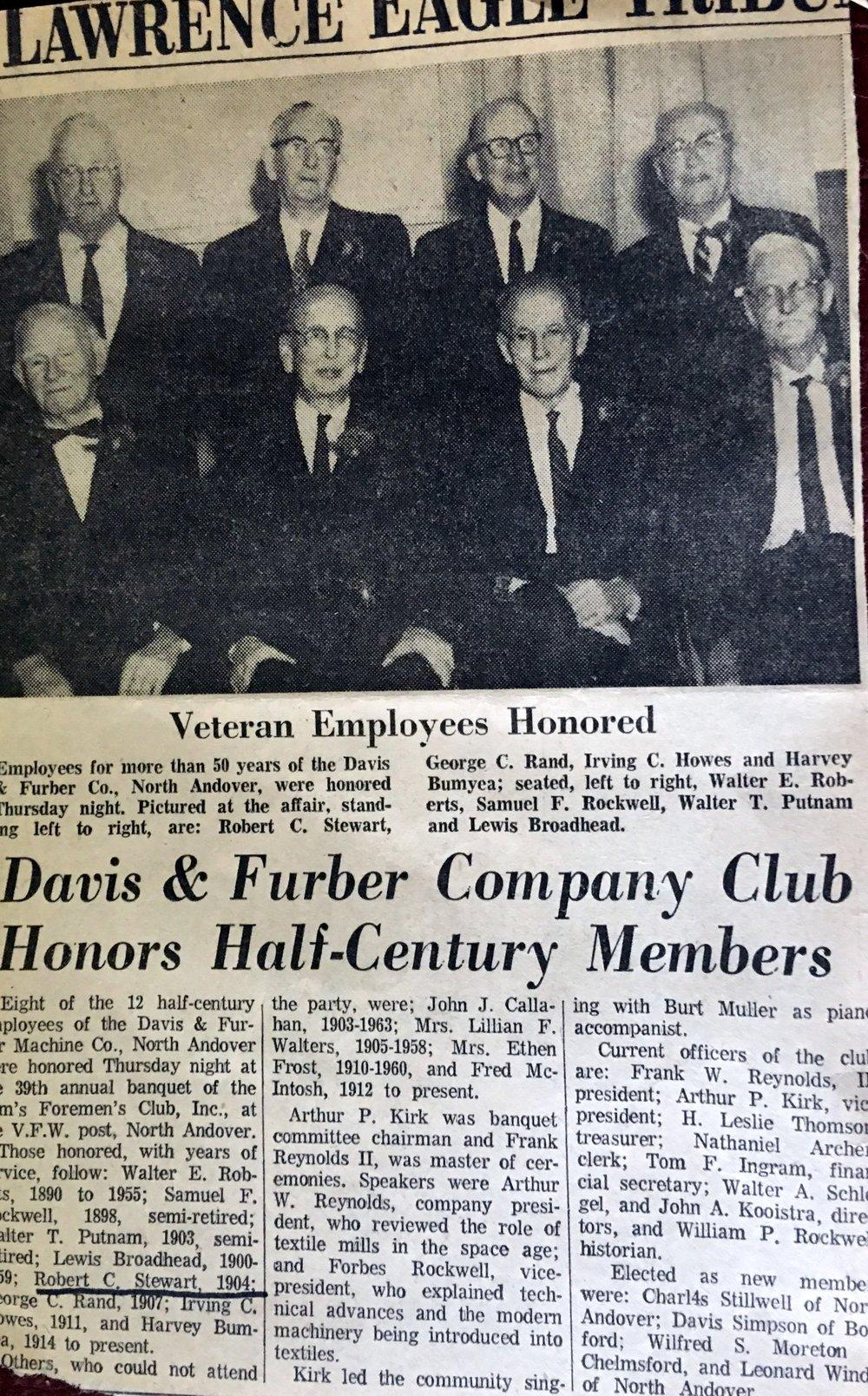 Newspaper clipping of 50 year club.jpg