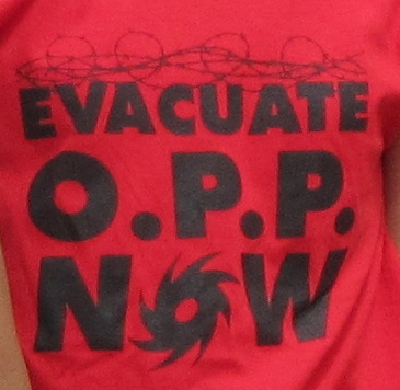close up evacuate opp
