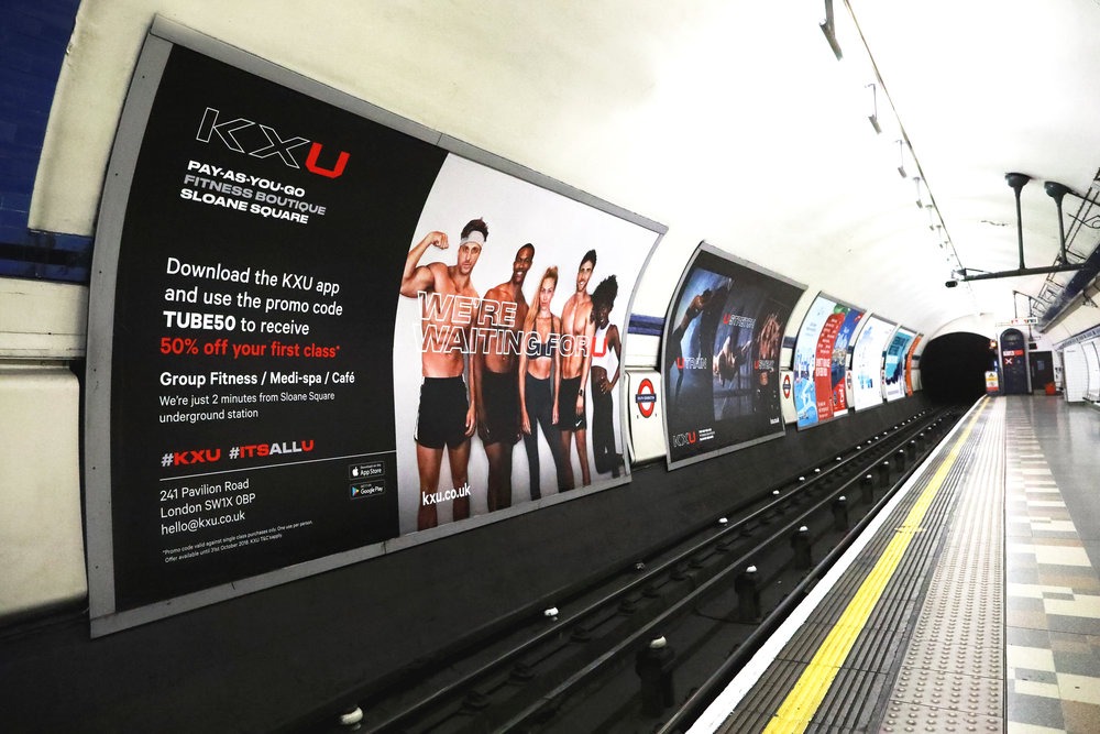 - Eva was commissioned for KXU London's campaign on the London Underground in October 2018 & January 2019.