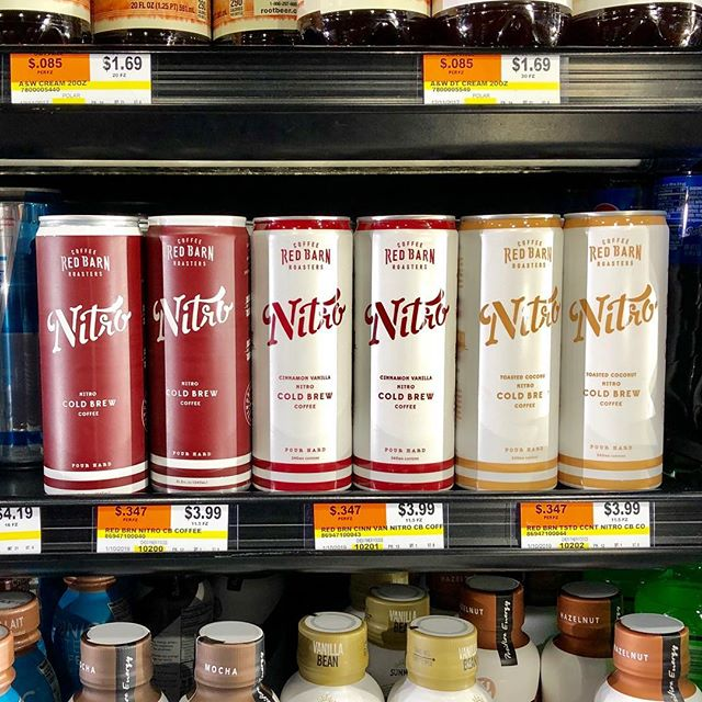 Excited to announce our cold brew cans are now in the @davesmarketri coolers!