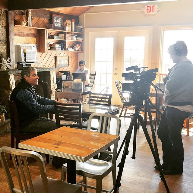 Terry from Southborough Access Media @sboromedia interviewing Red Barn Co-Founder and President Mark Verrochi about the coffee business and the joys of operating two cafes in Southborough. Stay Tuned!