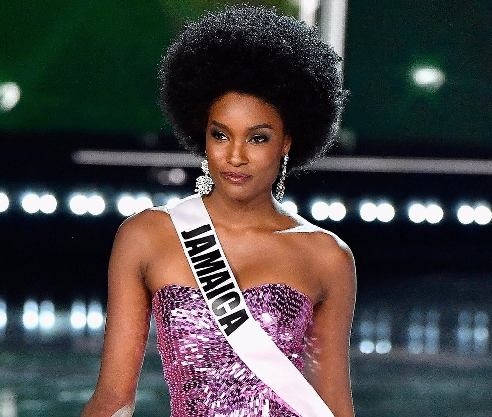 19 DAVINE BENNETT - Miss Jamaica, second runner up in Miss Universe and she wore her natural hair!!!