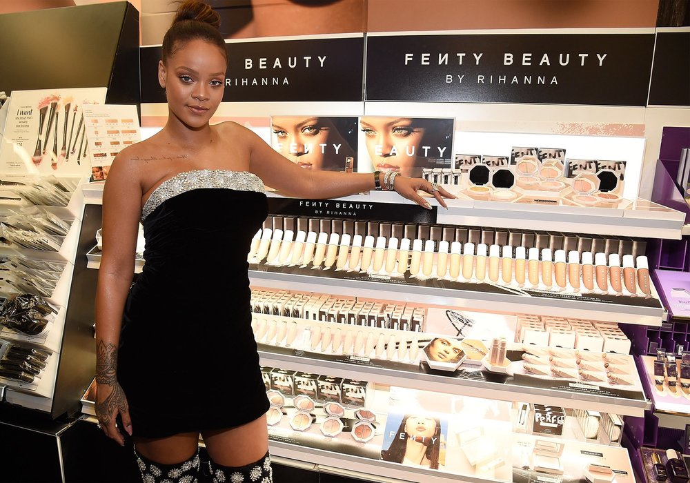 RIHANNA - basically wiped out all the other makeup competition first go round with her new Fenty Beauty and on top of that she won invention of the year from TIME magazine.