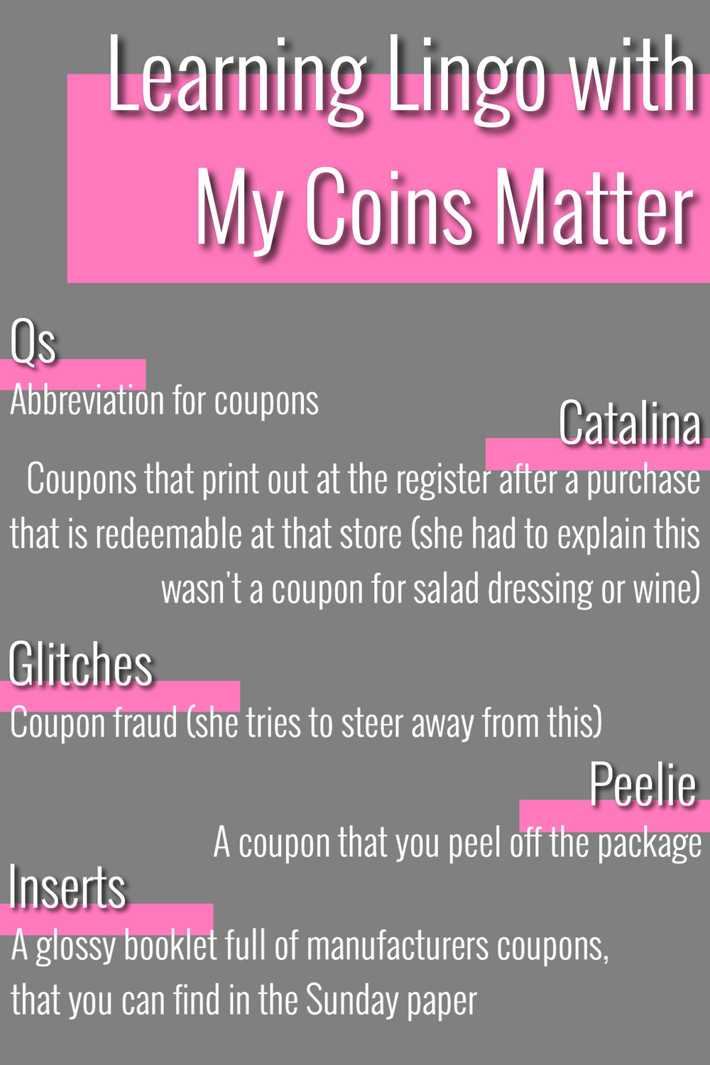coupon lingo terms with my coins matter coupon abbreviations