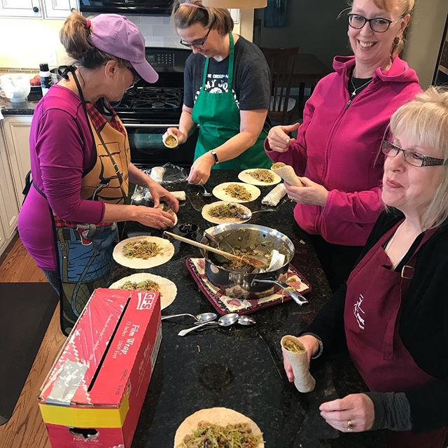 A successful meal planning party in the books. These ladies enjoyed there Saturday morning by spending time together making sweet potato zucchini lasagna, teriyaki chicken and broccoli, Italian roast chicken, teriyaki turkey wraps, turkey taco soup, and breakfast burritos. Time enjoyed and freezers stocked.  #mealprep #mealprepparty #eatyourvegetables #virtualdietitian