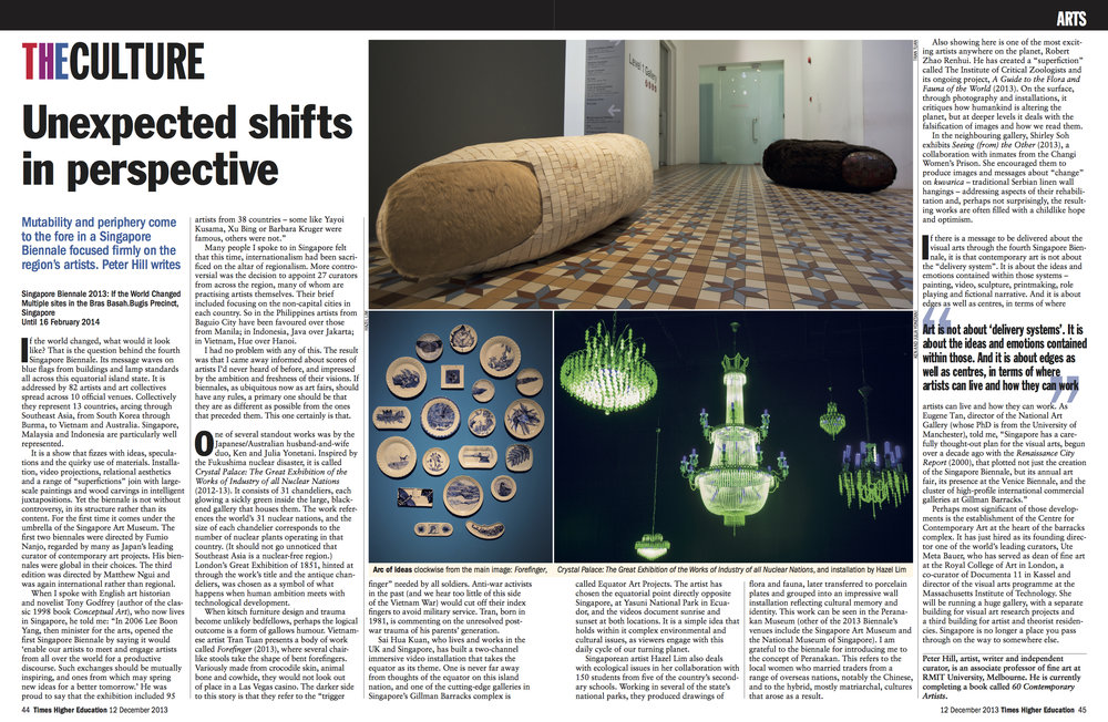 2013 Singapore Biennale: Unexpected shifts in perspective