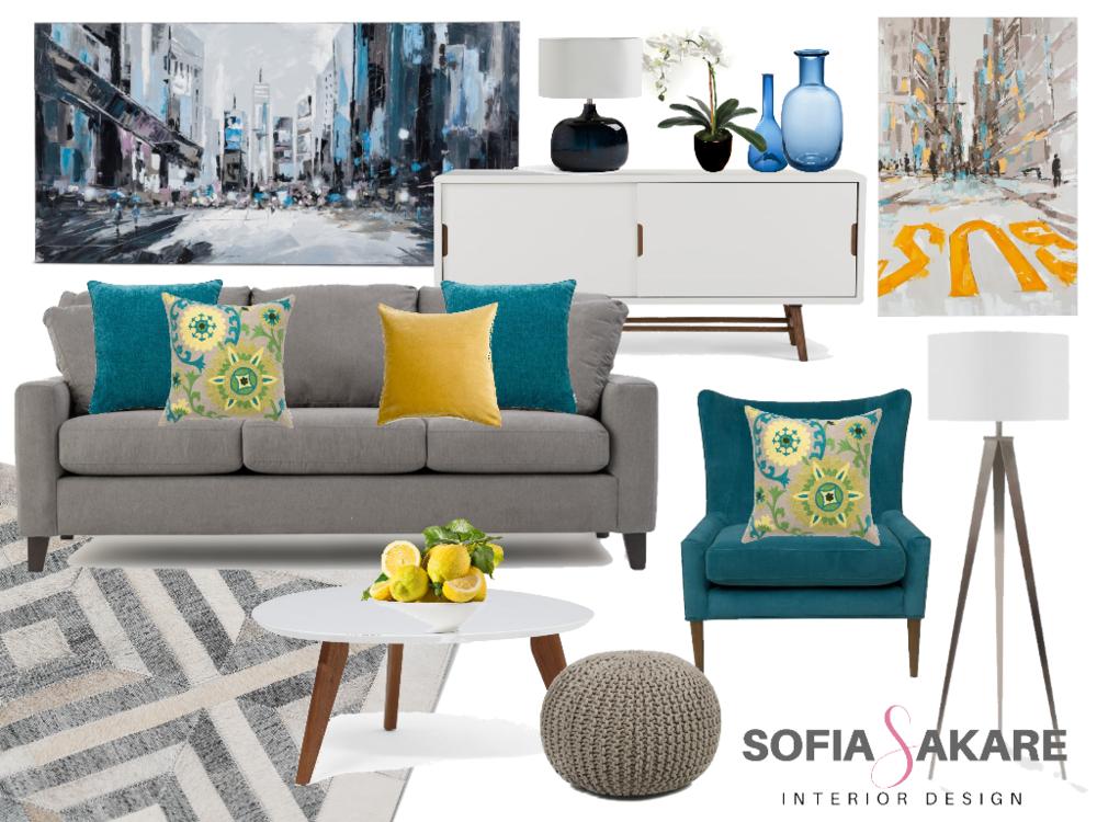 E-Design Living Room Project by Sofia Sakare Interior Design
