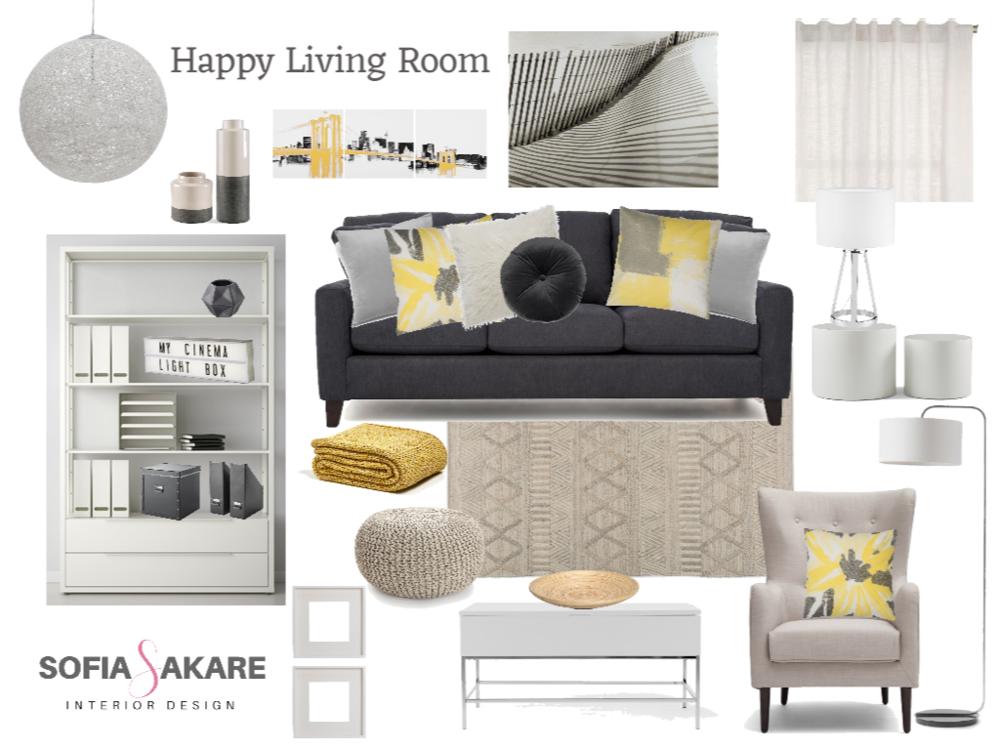 E-Design Family Room Project by Sofia Sakare Interior Design