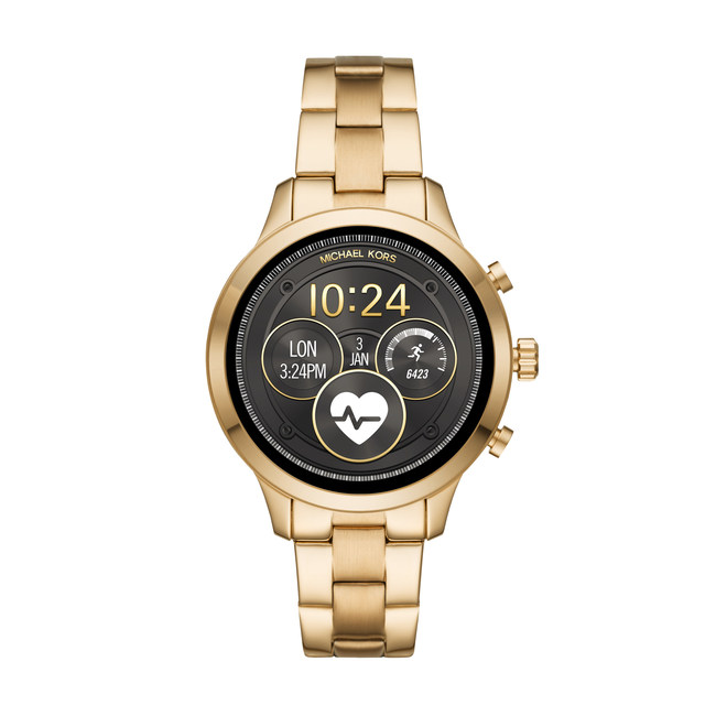 The Michael Kors Access collection continues to grow with its newest addition, the Runway Access Smartwatch, which features the latest Wear OS capabilities: heart-rate tracking, swimproof functionality, payment technology, untethered GPS and more. (PRNewsfoto/Michael Kors)