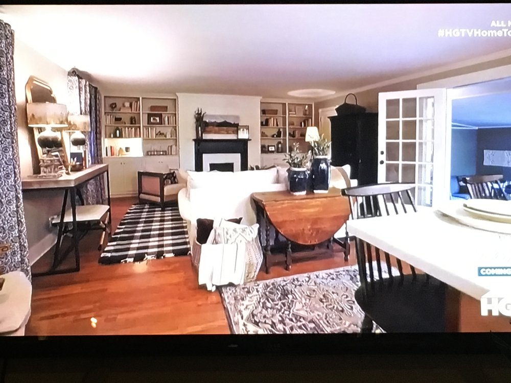 Screenshot of a TV living room I love