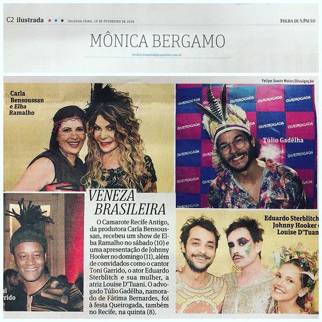 Nosso trabalho foi destaque na mais importante coluna do país,Monica Bergamo da @folhadespaulo Como é bom ver nossa cultura sendo valorizada nacionalmente.  #trabalhorecompensado #vivacarnavalpe