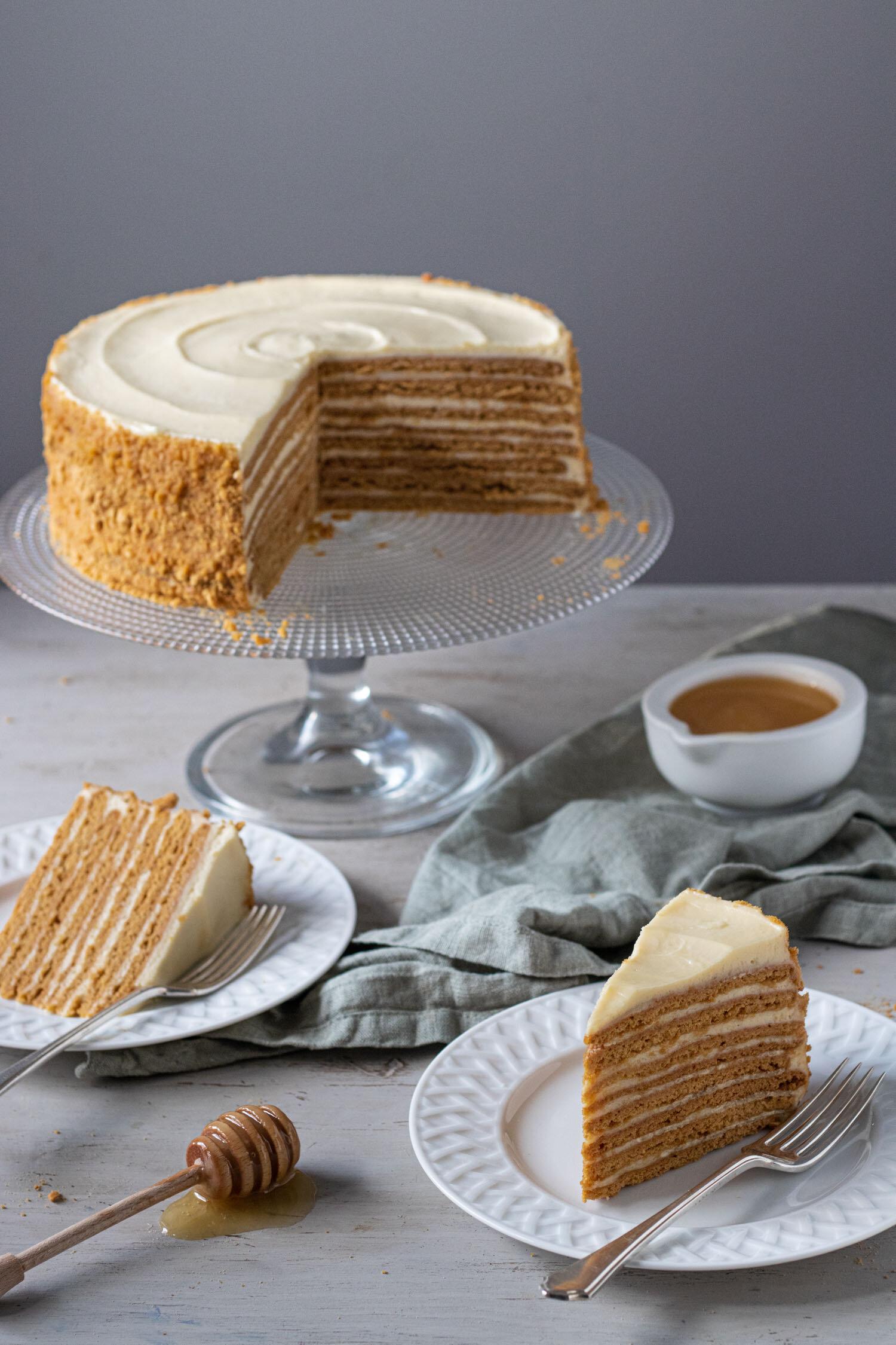 Medovik Russian honey cake — Michelle Bessudo